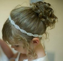 5pcs Baby Headbands With Shine Rhinestone Applique Elastic Luxury Crystal Hairbands Bridal Hair Accessories For Girl Wedding Hair Corsage