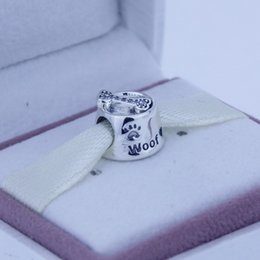 Wholesale 2015 New Autumn Sterling Silver Woof Charm Bead Fits European Pandora Jewelry Bracelets Necklace A689