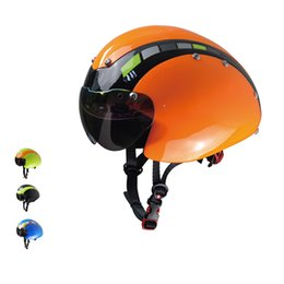 Wholesale Newest Professional TT Road Bicycle Helmet Time Trial Cycling Casco Goggle Ultra Light g