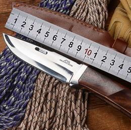 Wholesale Wolf Tatoo ROCKSTEAD JIN S Ren Hanada Ocean Straight Hunting Knife YXR HPC Blade Wood Handle Titanium Knife Tactical Survival Knife