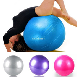 Wholesale Fashion New cm Exercise Workout Fitness Gym Yoga Anti Burst Swiss Core Ball Gray Purple Blue Pink
