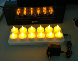 12 rechargeable candles mouth quality LED electronic simulation candle wedding no bar candle