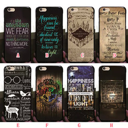 Wholesale Harry Potter Marauders Hard PC Case for iphone p S Plus S Hogwarts Map Words Plastic Back Cover Skin Shell Fashion Hot Arrival