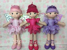 Wholesale MOQ10pcs lucky toy factory factory direct trade large size cm ballerina cute dancing dolls with crown and wings for girls