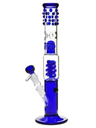 Wholesale Grace Glass Bong quot Slender Blue Sarah quot innovative details Percolator Ice compartment water pipe stylish heavry quot downstem hookah