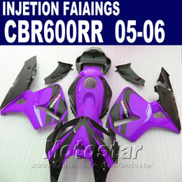 Purple fairing kit! Injection Molding for HONDA CBR 600 RR fairing 2005 2006 cbr600rr 05 06 cbr 600rr custom fairing CID8