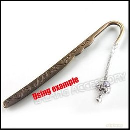 Wholesale-15pcs lot Wholesale Antique Brass Metal Handmade Bookmarks For Jewelry Beading DIY 120mm 160568