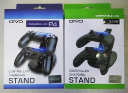 Charge de contrôleur sans fil xbox en Ligne-Dual Controller Charger Station de stationnement de station de charge pour Sony PlayStation 4 PS 4 PS4 Xbox One Game Gaming Wireless Controller Console