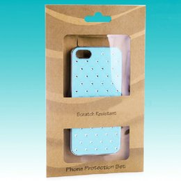 Wholesale Fashion mm Mobile Phone Case Retail Packaging New Hang Hole Kraft Paper Package with PVC Window Pouch Case Box Package Bags