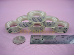 Wholesale Wholesales Rolls Packing Clear Sellotape Crystal Transparent Stationery Scotch Adhesive Tape mm x yard_1 quot Core