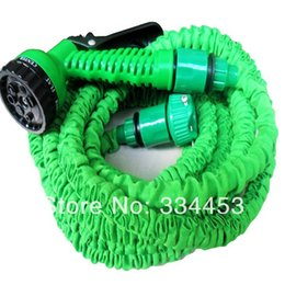 Wholesale Hot promotion M Hose with gun water garden Pipe Green Water valve spray Gun Advised popularly by US ABC NEWS