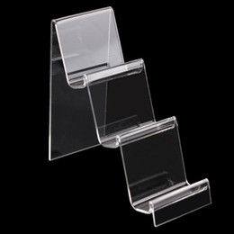 Transparent Acrylique téléphone mobile U disque Afficher Bijoux Support à numérique Produits Portefeuille en rack Showcase Organisateur à partir de détenteurs de téléphones mobiles acryliques fabricateur