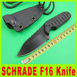 SCHRADE F16 Fixed Blade Neck knife 5CR13MOV 56HRC Blade G10 Handle outdoor straight knife knives with Kydex Sheath sport Knives 735X