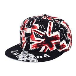 Wholesale Men Women UK Flag England Baseball Cap Peaked Visor Hat Adjustable Baseball Visor Snapback Hat