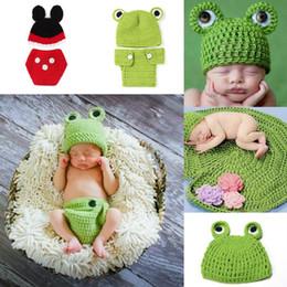 Descuento cute baby accesorios de fotografía Los bebés bebé de punto de ganchillo Beanie Sombreros de dibujos animados Caps animal linda de Cosplay Para La fotografía apoya XDT 0-6months XDT
