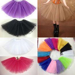 Wholesale Ladies Pettiskirt Skirts - Wholesale-Lady Girl Waist Dancewear Tutu Pettiskirt Princess Party Skirts Mini Dress