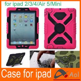 Wholesale Pepkoo Defender Military Spider Stand Water dirt shock Proof Case Cover Plastic Silicone Ipad iPad Air iPad Mini Retina