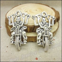 Wholesale Antique silver Charms Motorcycle Pendant Fit Bracelets Necklace DIY Metal Jewelry Making