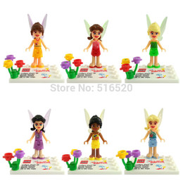 Wholesale Tinker Bell Minifigures Silvermist Rosetta Iridessa Fawn Figures Frozen Building Block Sets Model Bricks Toys For Children