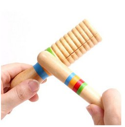 Wholesale Wooden Guiro Hohner Sound Tube Rhythm Stick Percussion Child Baby Kid Orff Musical Instrument Preschool Toy