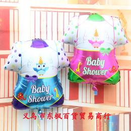 Wholesale Hot Baby Shower Air Ball Children s st Anniversary Birthday Party Inflatable Foil Balloon Modelling Clothes Air filled For Boys Girls