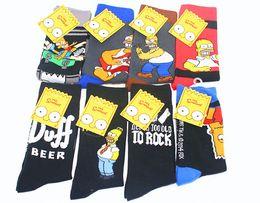 Wholesale New Arrival High Quality MOQ Simpson Socks Fashion Cotton Sports Men s Socks tube male socks Cartoon socks