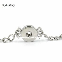 Wholesale Snap Button Bracelet Jewelry Angel Wings Button Bracelet SB_164