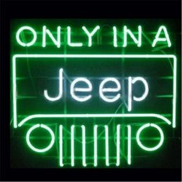 Wholesale HANDICRAFT ONLY IN A JEEP AUTO CAR NEON SIGN REAL GLASS TUBE LIGHT BEER BAR PUB STORE x11 quot