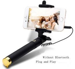 Wholesale Mini Selfie Stick Monopod Self pole Monopod Handle stick Monopod For Android4 or more and IPhones IOS5 or more