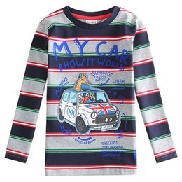 Wholesale-Casual Boys Shirts Nova Striped T Shirt Boy Spring Autumn Clothes for Boys Novelty Roupa Infantil A5124