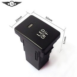 Wholesale 2015 New Car Fog Lamp Light ON OFF led Fog Lamp Switch Yellow LED Lights For Toyota With Cable