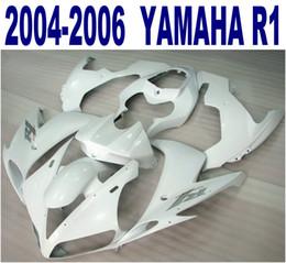 100% Injection molding for YAMAHA fairings 2004 2005 2006 YZF R1 all white fairing kit bodywork 04 05 06 yzf-r1 VL22