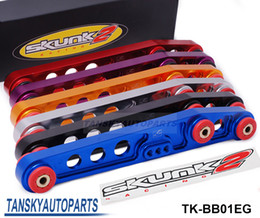 Wholesale 1pair SK2 RACING REAR LOWER CONTROL ARMS FOR ACURA INTEGRA CIVIC ALL EG CLEAR ANODIZED TK BB01EG