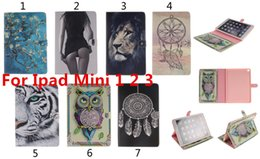 Wholesale Hot Sale Leather PU Case For Ipad Mini Fashion Painting Style Bag Tablet Covers Stand Flip Case Best Gift
