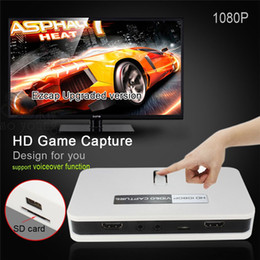Wholesale 1080P HD Video Capture EZCAP HD Game Capture AV HDMI YPbPr Recorder into USB Disk SD card For Xbox PS3