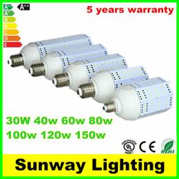 CE UL E26 E27 E39 E40 LED Ampoule de maïs 30w 40w 60w 80w 100w 120w 150w SMD5730 jardin entrepôt parking lampes à partir de e27 ce smd fabricateur