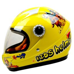Wholesale Bike Helmet for Children Full face Helmet Electric Vehicle Kid Safety helmet Motorcycle helmet Yellow