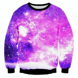 w1213 Raisevern new galaxy space sweatshirts 3D print beautiful starry sky harajuku sweatshirts tops casual hoody fashion 3d pullovers