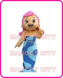Wholesale Low cost New Bubble Guppies Molly Girl Mascot Costume Adult Size Cartoon Character Mascotte Mascota Outfit Suit Fancy Dress S201