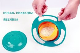 Wholesale Non Spil Feeding Toddler Gyro Bowl Rotating Baby Avoid Food Spilling Children Creation Bowl As Feeding Supplies ZJ16 B01