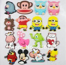 Wholesale by FEDEX Custom cartoon soft PVC fridge magnet for kids minion mickey owl kid baby bear cow