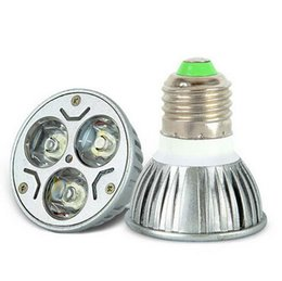 9W Led spotlight GU10 E27 E14 MR16 High Power Led Bulb Aluminum Alloy 3x3w LED Lamp Spotlight Bulb Warm White 85-265V