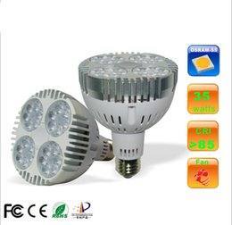 Wholesale CREE LED PAR38 W W LED Spotlight Par led bulb with Fan for jewelry clothing shop gallery led track rail light