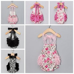 New 2015 Lace and Flower Baby Romper Sleeveless Girls Romper Princess One piece baby onesie tutu baby flower romper free shipping in stock