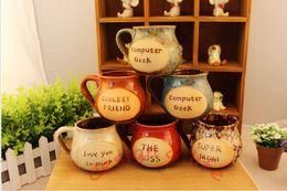 big ceramic coffee cup mug hand shank vintage tea cup