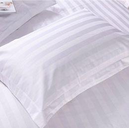 Wholesale Satin Bedding Wholesale - white Satin stripe pillowcase 2pcs pair 48*74cm sofa pillowslips pillowcase bedding cushion cover dakimakura cotton home textile