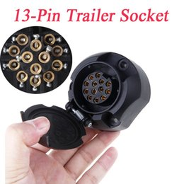 Wholesale Tirol Pin Trailer Socket Connector Pole Socket V Towbar Towing Caravan Truck N Type Vehicle End Plastic