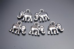 200pieces 14mm Elephant Pendant 7027 Charms Plated Silver DIY Jewelry Finding Making Charms Necklace infinity Bracelets Earring Accessory