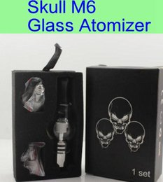 M6 Glass Wax Atomizer - 1PCs. M6 Atomizer Glass Tank Clearomizer 4.0ml Vaporizer Solid Smoke Oil Cartomizer For eGo EVOD Vision Battery
