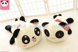 Oreillers panda en peluche à vendre-Expédition de haute Qualityfree grand traversin en peluche peluche Mignon Cadeau Panda 70cm cadeau